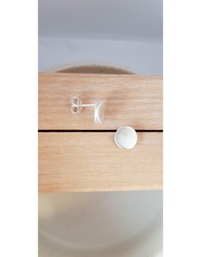 Katwalk Zilver Zilver oorstekers - dubbel rondje