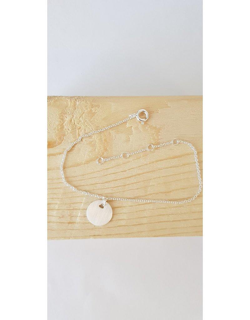 Katwalk Zilver Armband zilver met plaatje - 16-20cm