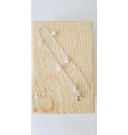 Katwalk Zilver Armband zilver met bloemetjes - 16-19cm