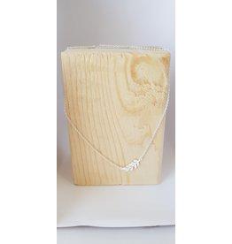 Katwalk Zilver Ketting zilver met blaadje - 42 cm