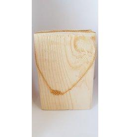 Katwalk Zilver Ketting verguld zilver met blaadje - 42 cm