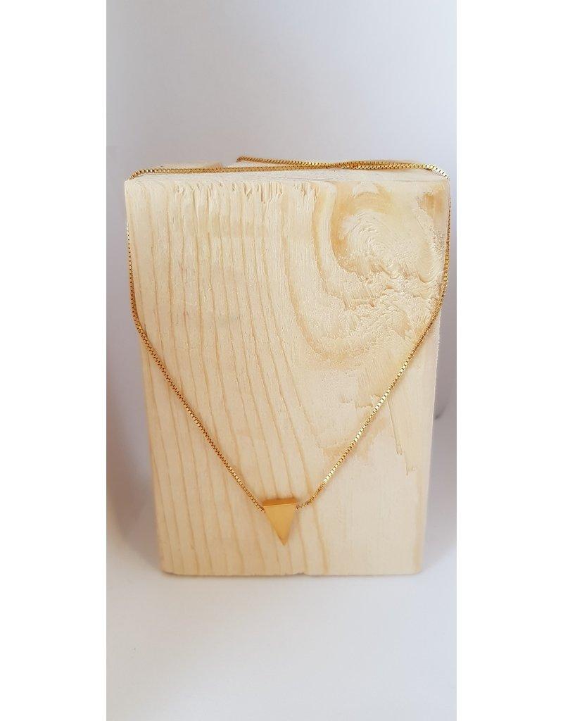 Katwalk Zilver Ketting verguld zilver met driehoekje - 42 cm