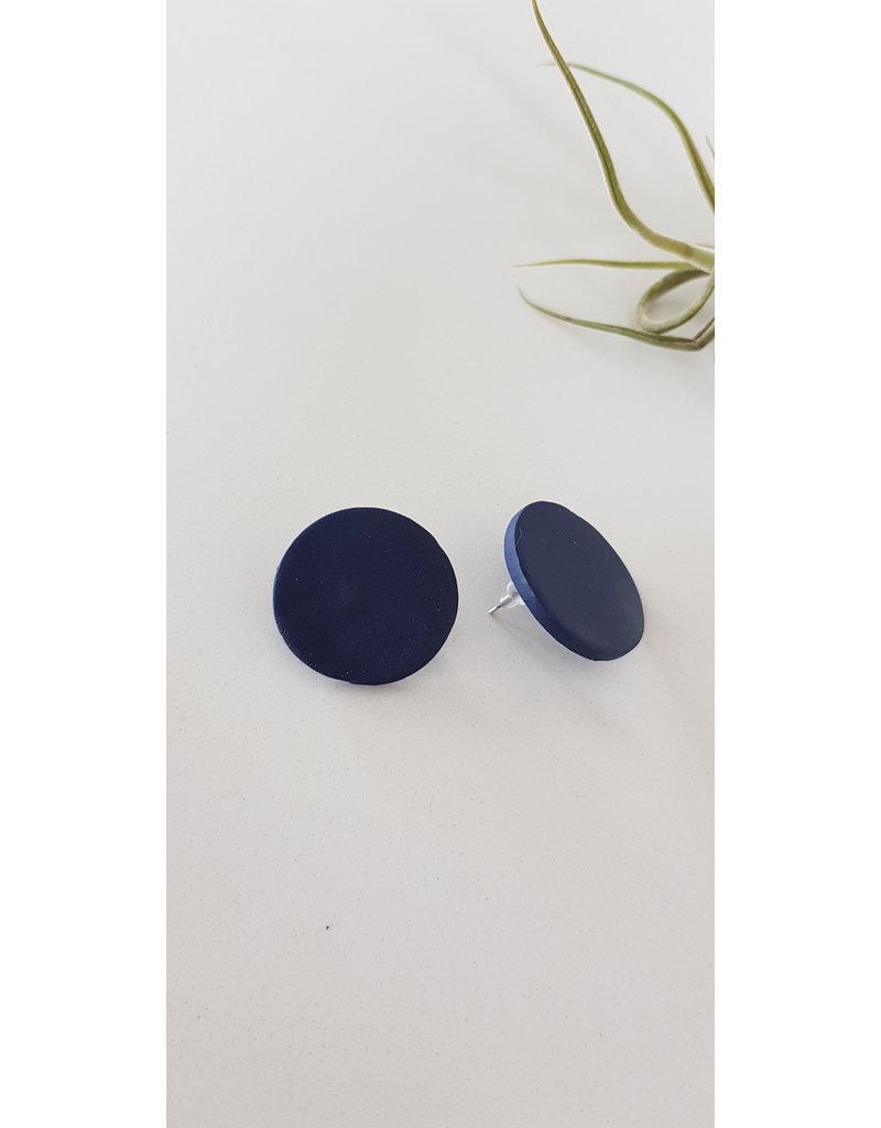 MonaLisa Juwelen Oorsteker klei donkerblauw 27 mm