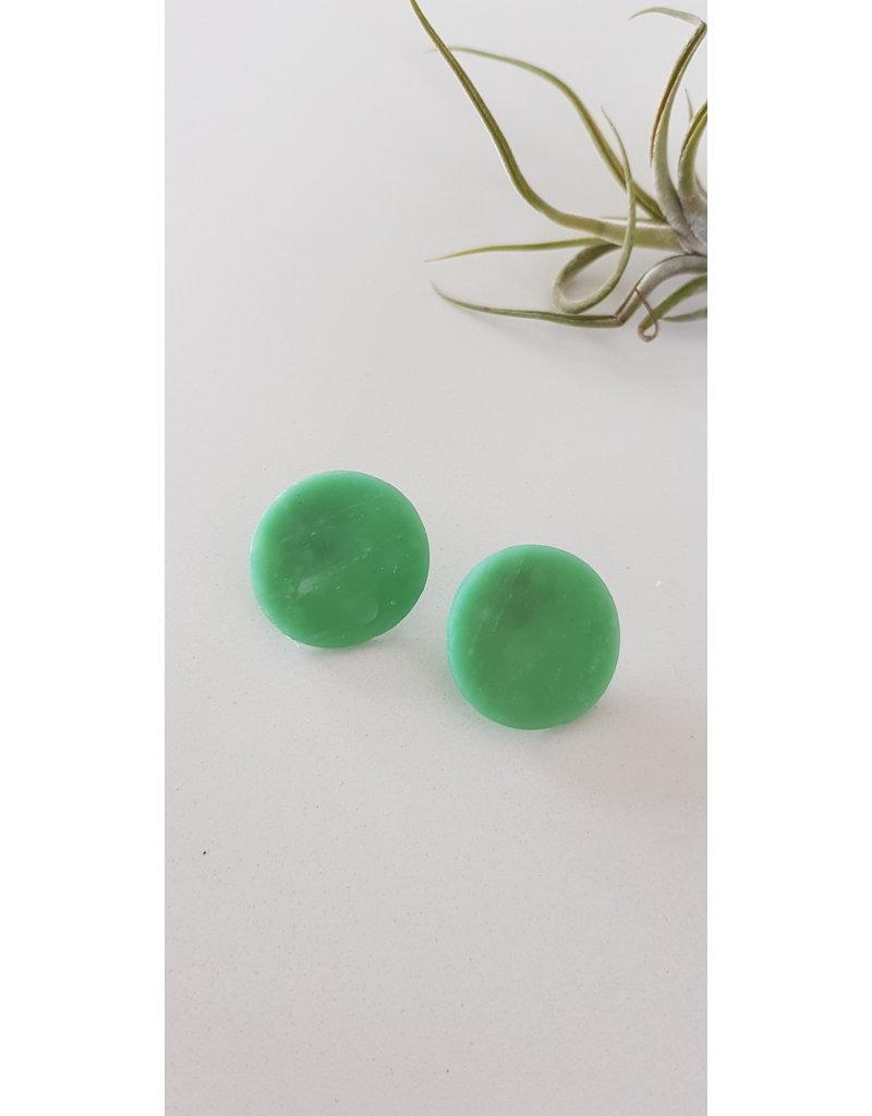 MonaLisa Juwelen Oorsteker klei jade groen 27 mm