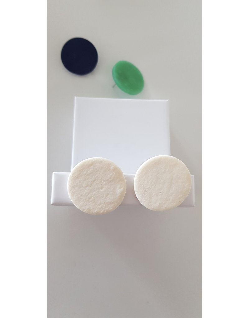 MonaLisa Juwelen Oorsteker klei ivoor 27 mm
