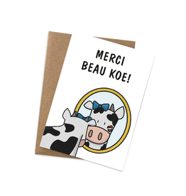 Graag Design Kaartje Graag-Design 'Merci beau koe'