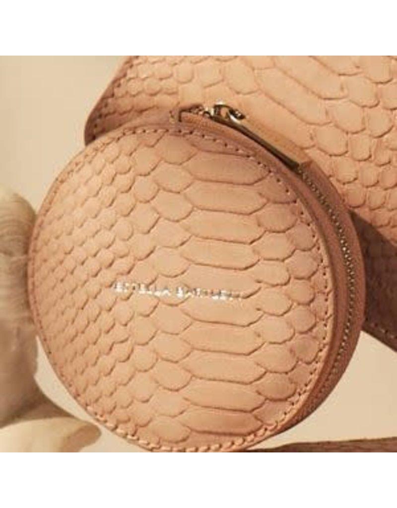 Estella Bartlett Circle Coin Purse - Pink Snake