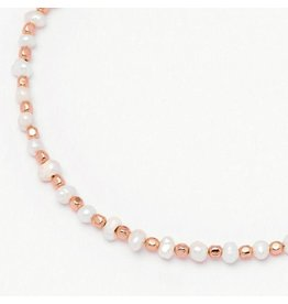 Estella Bartlett Armband - Amelia Pearl Slider Bracelet Rose Gold Plated