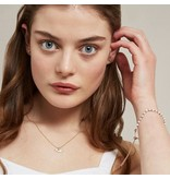 Estella Bartlett Armband - Amelia Pearl Slider Bracelet Rose Gold Plated