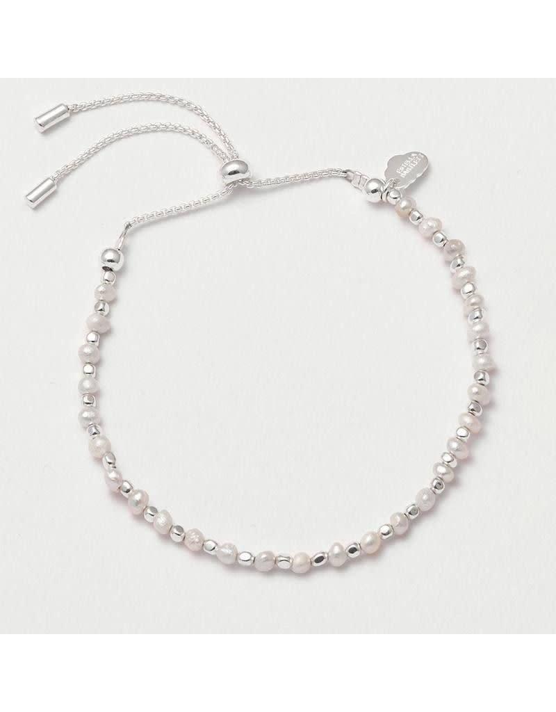 Estella Bartlett Armband - Amelia Pearl Slider Bracelet Silver Plated