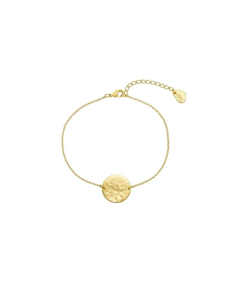 Estella Bartlett Armband - Hammered Disc Chain Bracelet Gold Plated