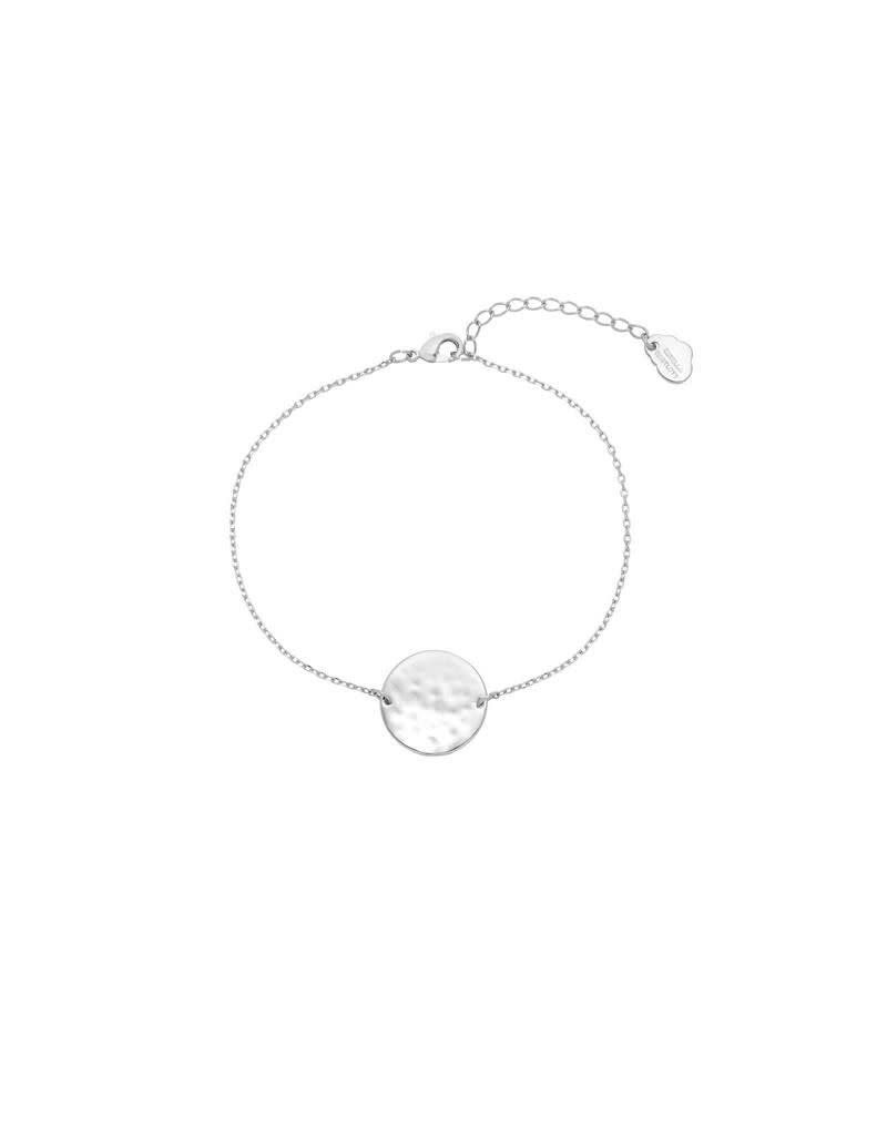 Estella Bartlett Armband - Hammered Disc Chain Bracelet Silver Plated