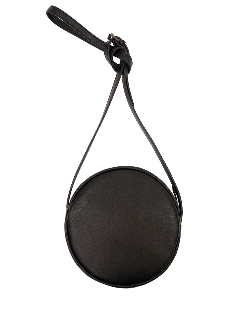 Zusss Kekke ronde tas zwart