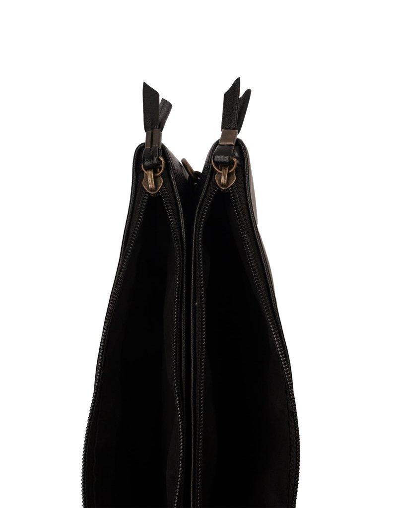 Zusss Dubbel tasje zwart