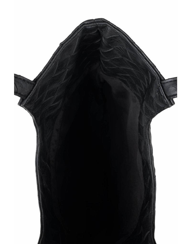 Zusss Kekke schoudertas - zwart gevlochten