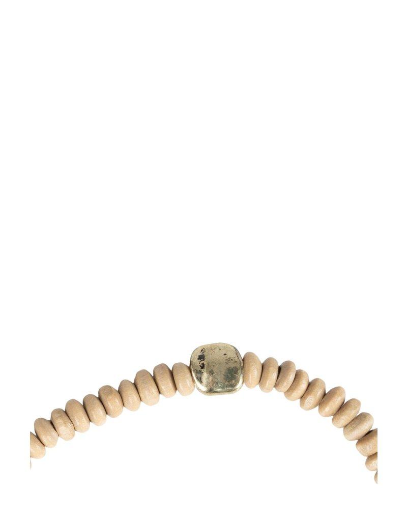 Zusss Armband met houten kraaltjes