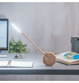 Gingko Octagon bureaulamp LED - maple