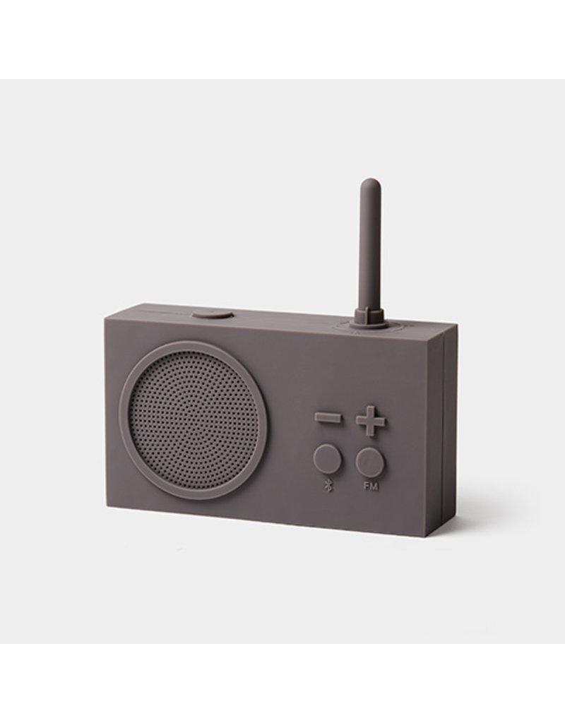 LEXON TYKHO 3 FM radio - 5W BT speaker - taupegrijs