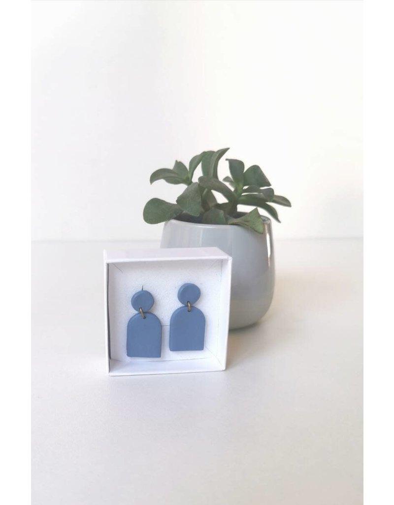 MonaLisa Juwelen Oorsteker klei - 'Poppy'- storm blue