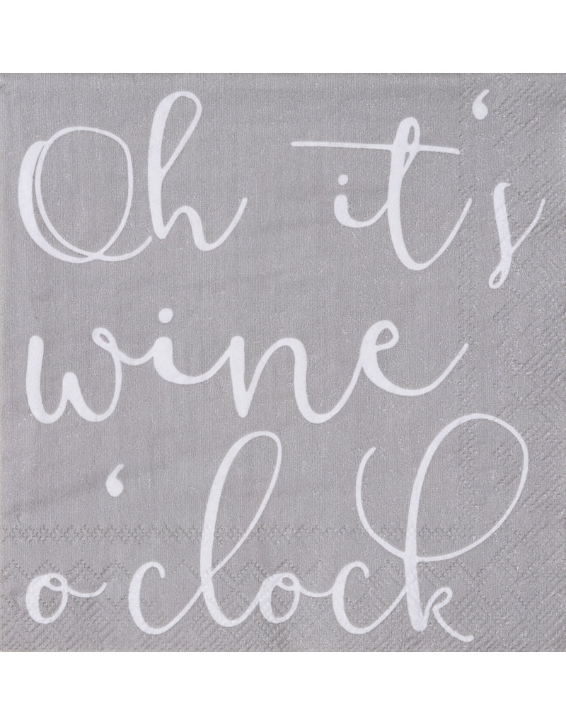 Räder Servetten 'Wine o'clock' - 25x25cm