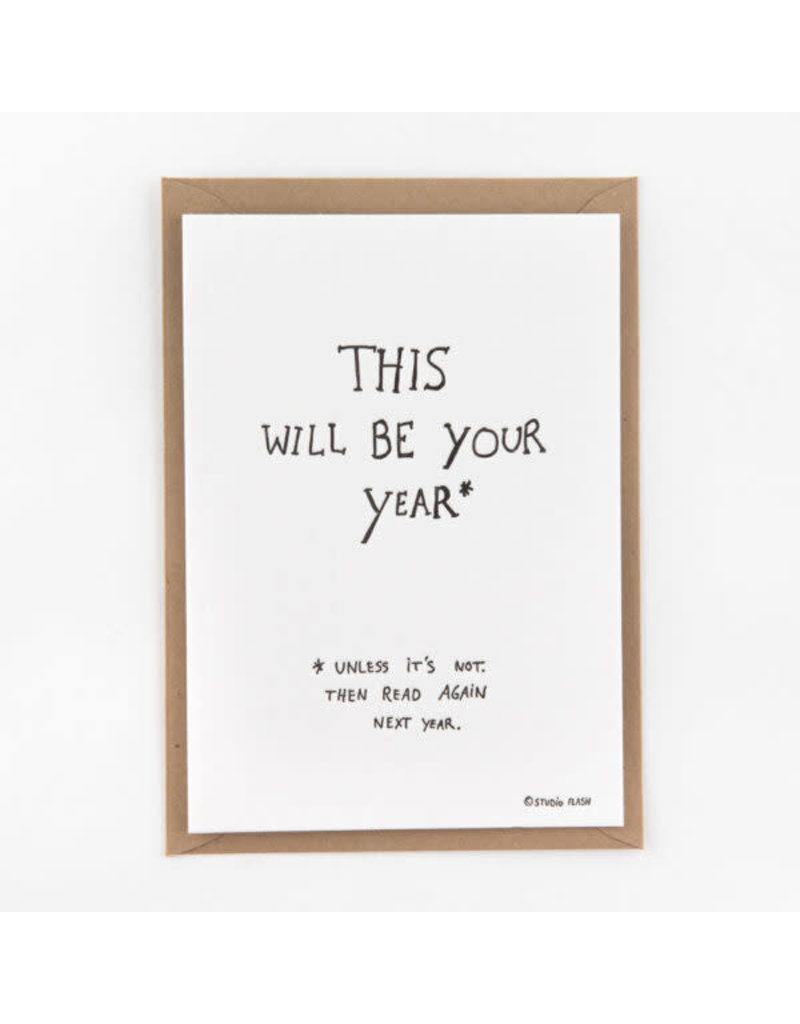 STUDIOFLASH Kaart 'This will be your year'