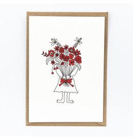 STUDIOFLASH Kaart 'Flowergirl'