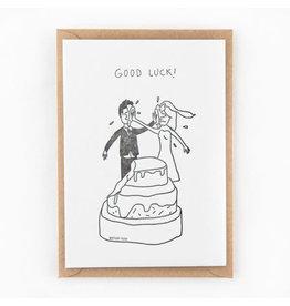 STUDIOFLASH Kaart 'Good luck - wedding cake fight'