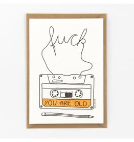 STUDIOFLASH Kaart 'Cassette - f*ck you're old'