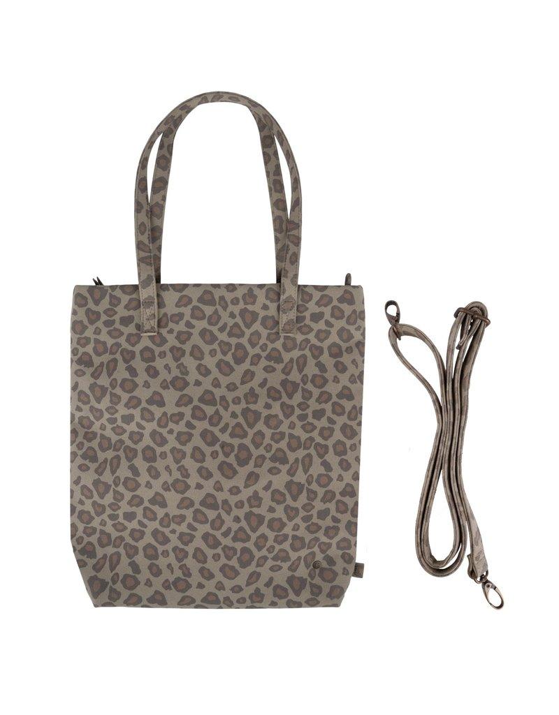 Zusss Basic shopper goud leopard