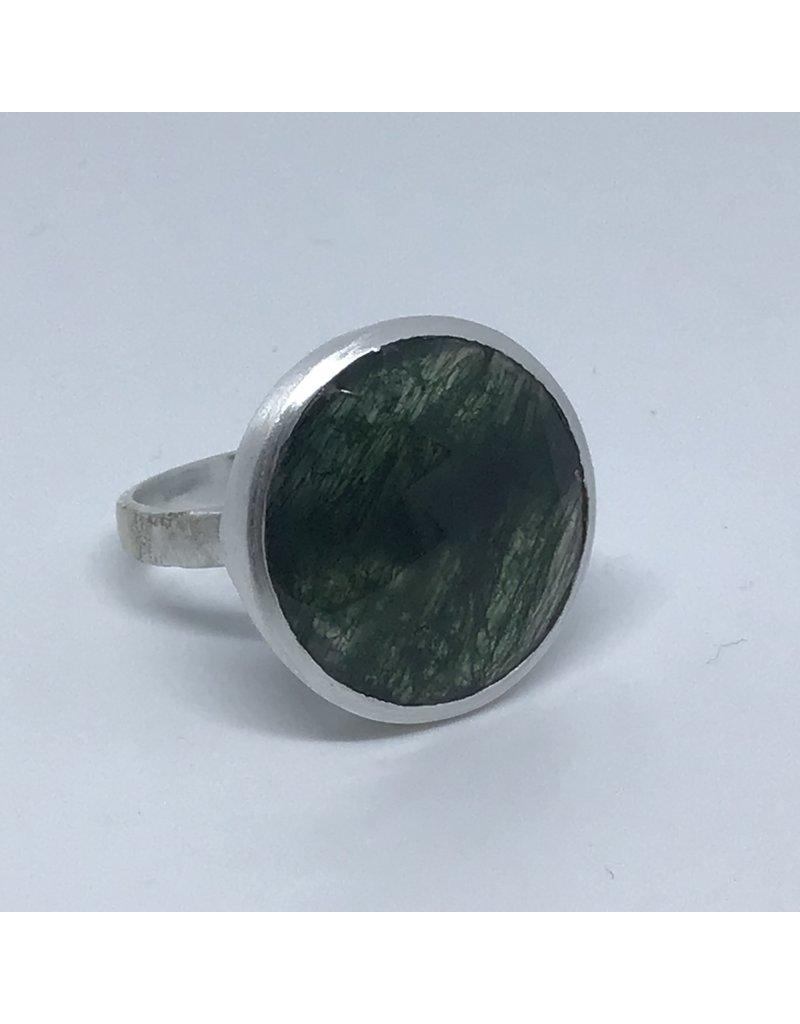 Katwalk Zilver Zilver ring met steen - Moss agate