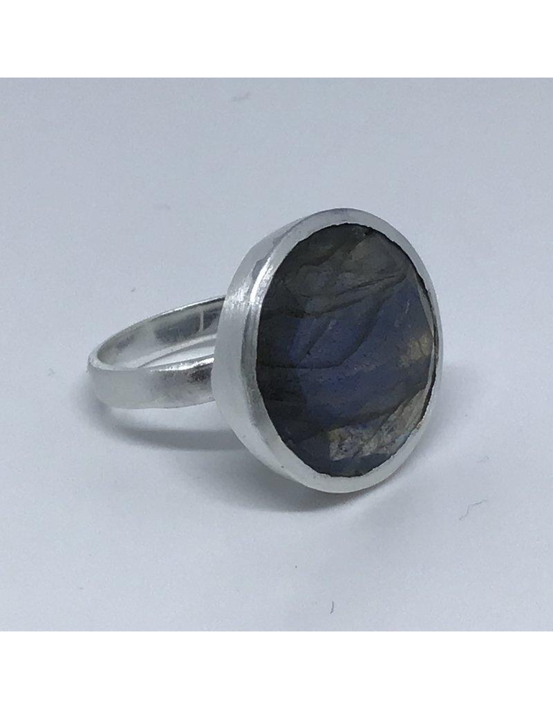 Katwalk Zilver Zilver ring met steen - Labradoriet