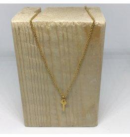 Katwalk Zilver Ketting verguld zilver met sleuteltje - 42 cm