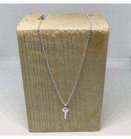 Katwalk Zilver Ketting zilver met sleuteltje - 42 cm