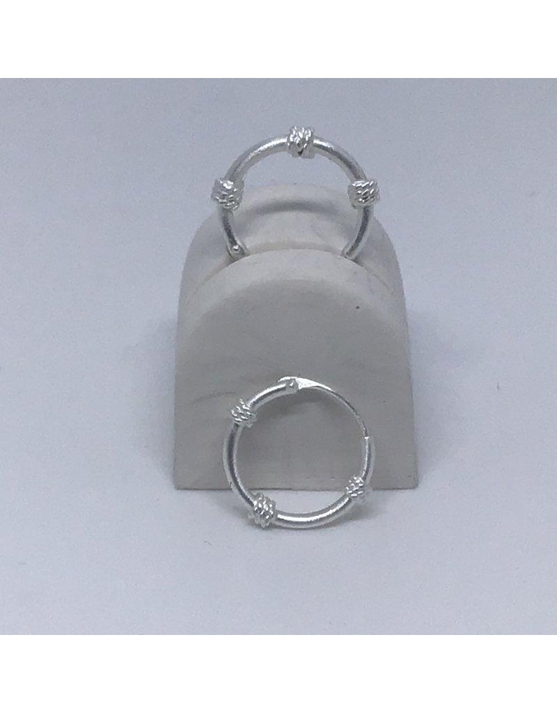 Katwalk Zilver Zilver oorring - etnic mini