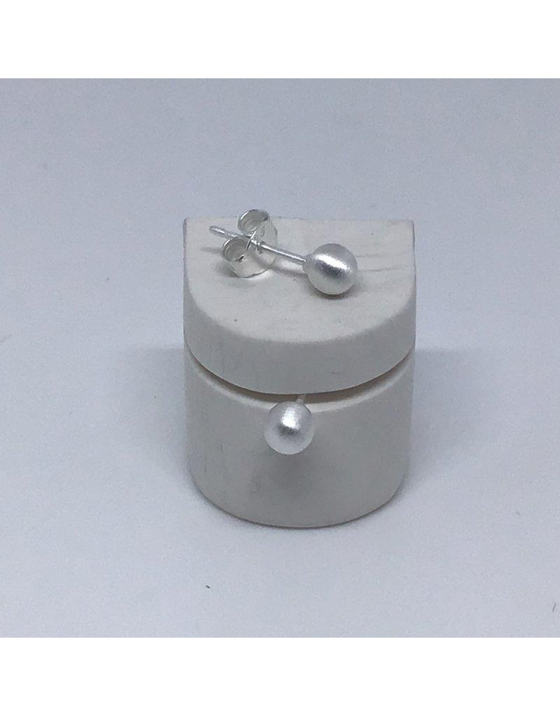 Katwalk Zilver Zilver oorstekers - zilver pareltje