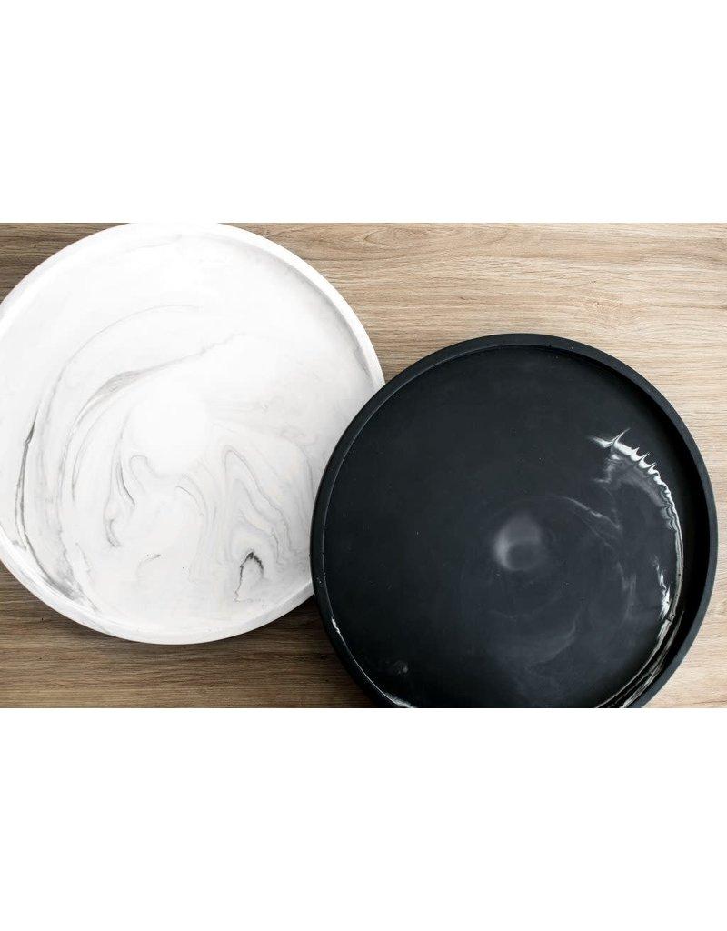 HOUSE RACCOON Vassoio plate - White marble - d. 29cm