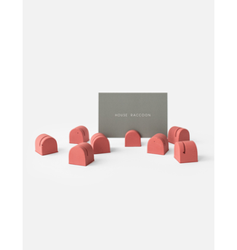HOUSE RACCOON Bobby Card Holders (8x) - Pomegranate