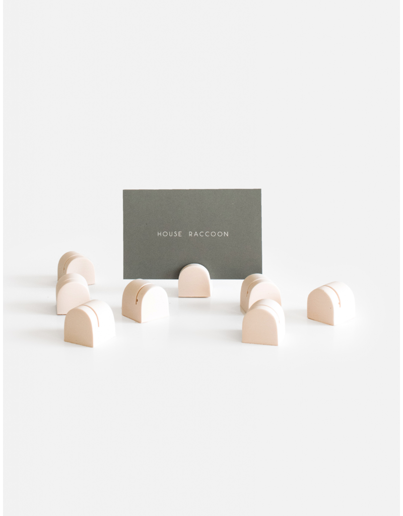 HOUSE RACCOON Bobby Card Holders (8x) - Millennial pink