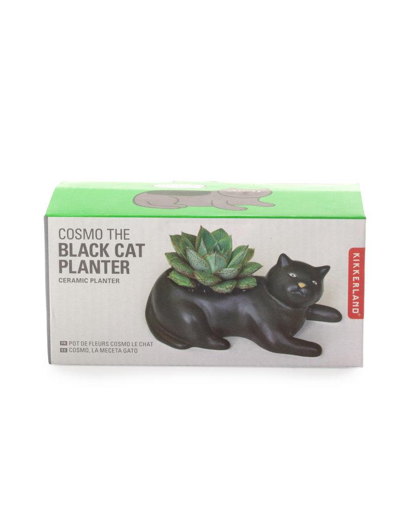 kikkerland Cosmo The Black Cat - planter