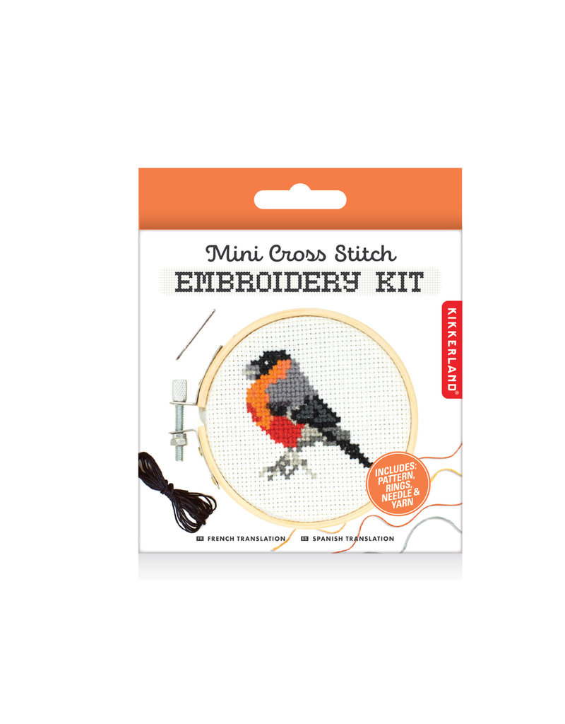 kikkerland Mini cross-stitch naai-setje - vogel