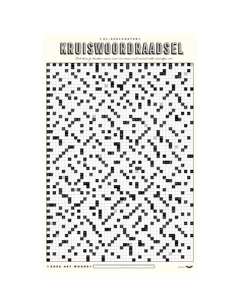 Stratier XL Poster kruiswoordraadsel