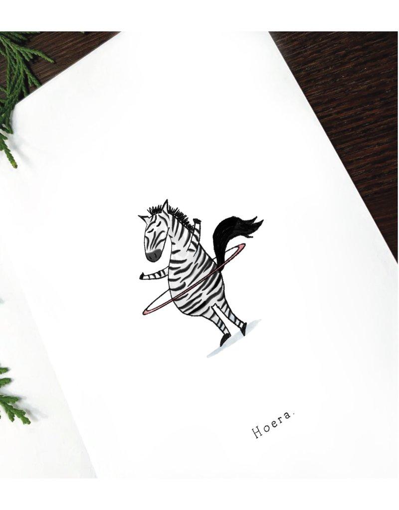 Pas de Susi Kaart Pas de Susi - Zebra met hoelahoep