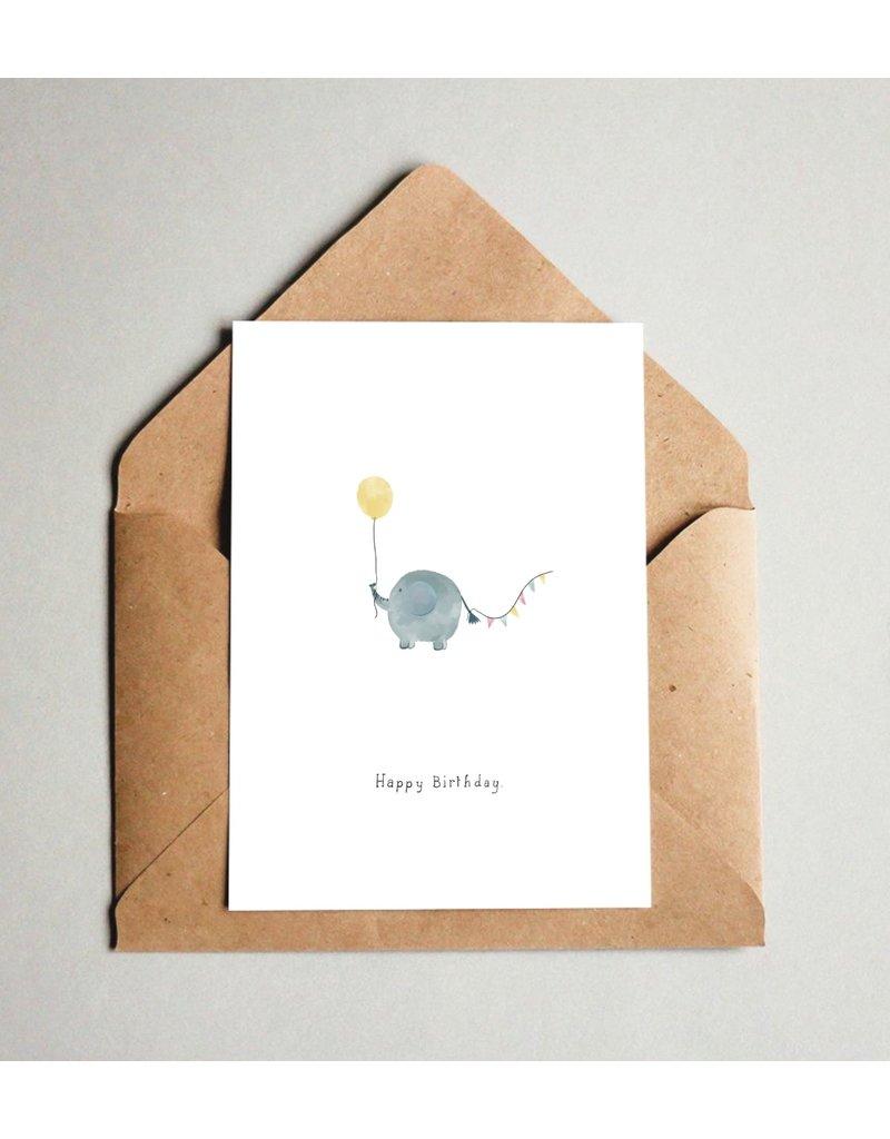 Pas de Susi Kaart Pas de Susi - Happy Birthday - Olifant