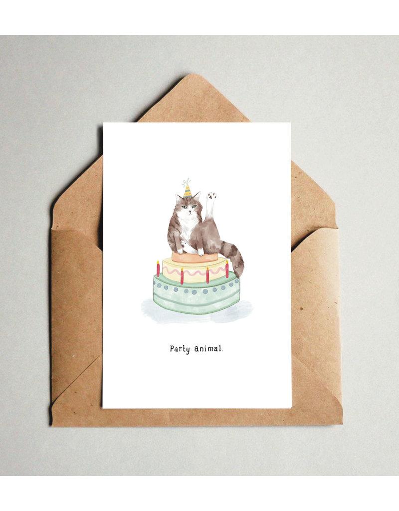 Pas de Susi Kaart Pas de Susi - Party animal - kat op taart