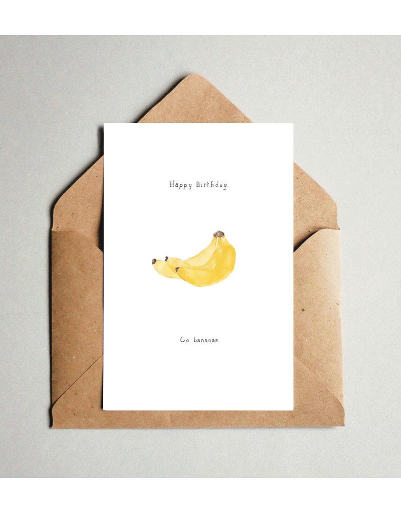 Pas de Susi Kaart Pas de Susi - Happy Birthday - Go bananas