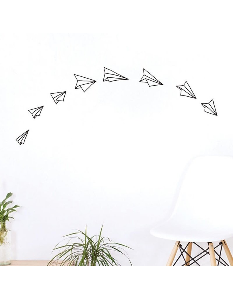 Chispum Wall sticker - paper planes
