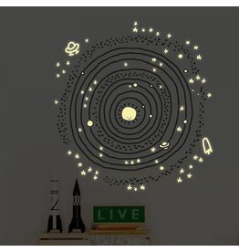Chispum Wall sticker - glow in the dark - Cosmos