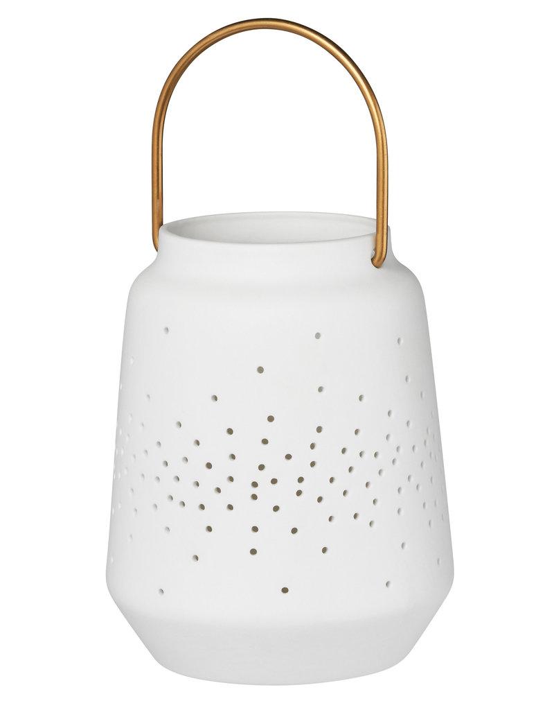 Räder Porselein mini lantaarn - h 14cm - dia 11cm