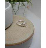 Katwalk Zilver Zilveren ring - dubbel plaatje maat 56