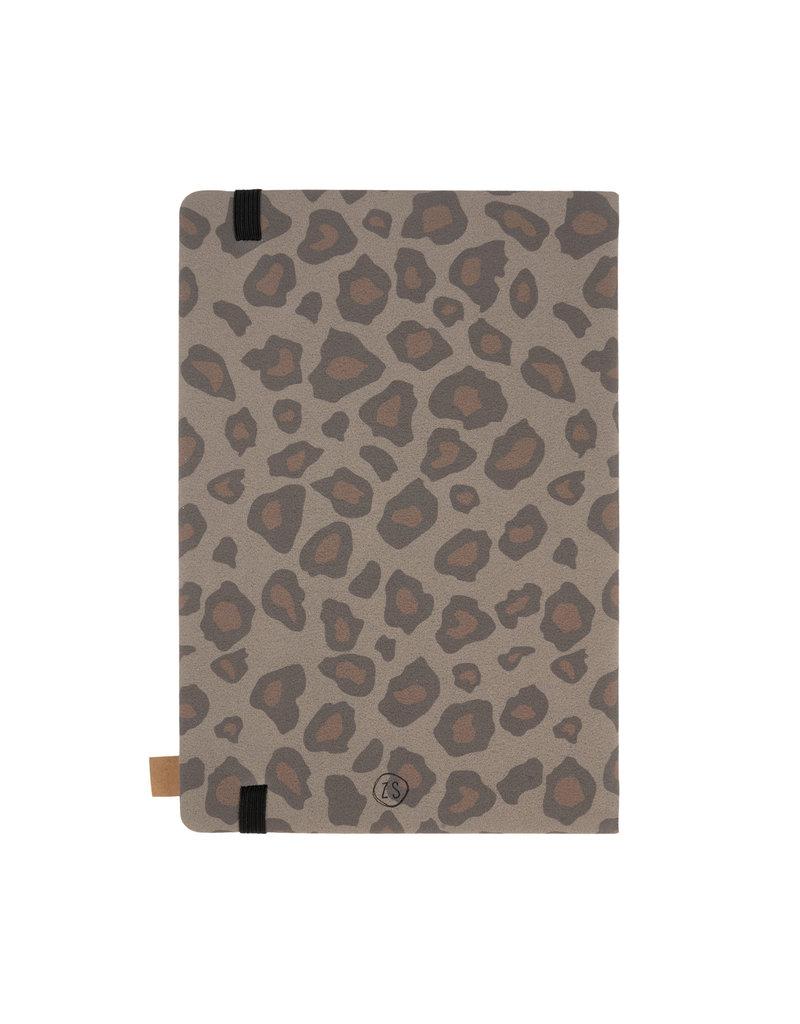 Zusss Notitieboek 'Geniet' leopard